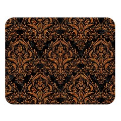 DAMASK1 BLACK MARBLE & RUSTED METAL (R) Double Sided Flano Blanket (Large)