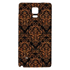 DAMASK1 BLACK MARBLE & RUSTED METAL (R) Galaxy Note 4 Back Case