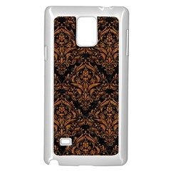 DAMASK1 BLACK MARBLE & RUSTED METAL (R) Samsung Galaxy Note 4 Case (White)