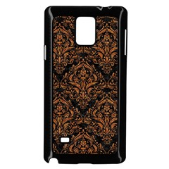 DAMASK1 BLACK MARBLE & RUSTED METAL (R) Samsung Galaxy Note 4 Case (Black)