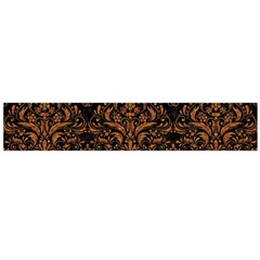 DAMASK1 BLACK MARBLE & RUSTED METAL (R) Flano Scarf (Large)