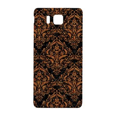 DAMASK1 BLACK MARBLE & RUSTED METAL (R) Samsung Galaxy Alpha Hardshell Back Case