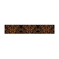 DAMASK1 BLACK MARBLE & RUSTED METAL (R) Flano Scarf (Mini)