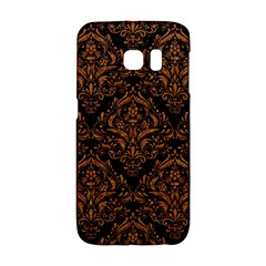 DAMASK1 BLACK MARBLE & RUSTED METAL (R) Galaxy S6 Edge