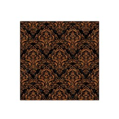 DAMASK1 BLACK MARBLE & RUSTED METAL (R) Satin Bandana Scarf