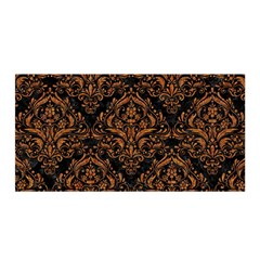 DAMASK1 BLACK MARBLE & RUSTED METAL (R) Satin Wrap