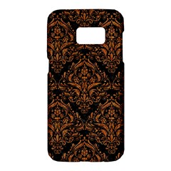 DAMASK1 BLACK MARBLE & RUSTED METAL (R) Samsung Galaxy S7 Hardshell Case