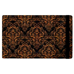 DAMASK1 BLACK MARBLE & RUSTED METAL (R) Apple iPad Pro 9.7   Flip Case