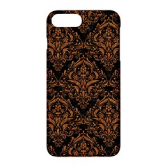 DAMASK1 BLACK MARBLE & RUSTED METAL (R) Apple iPhone 7 Plus Hardshell Case
