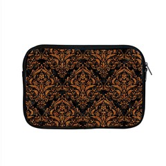 DAMASK1 BLACK MARBLE & RUSTED METAL (R) Apple MacBook Pro 15  Zipper Case