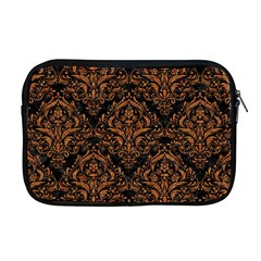 DAMASK1 BLACK MARBLE & RUSTED METAL (R) Apple MacBook Pro 17  Zipper Case