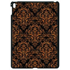 DAMASK1 BLACK MARBLE & RUSTED METAL (R) Apple iPad Pro 9.7   Black Seamless Case