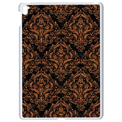 DAMASK1 BLACK MARBLE & RUSTED METAL (R) Apple iPad Pro 9.7   White Seamless Case