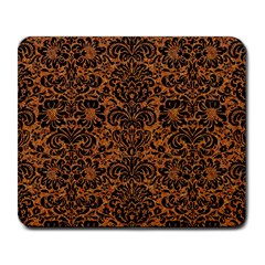 DAMASK2 BLACK MARBLE & RUSTED METAL Large Mousepads