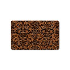 Damask2 Black Marble & Rusted Metal Magnet (name Card) by trendistuff