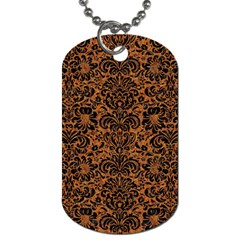 DAMASK2 BLACK MARBLE & RUSTED METAL Dog Tag (One Side)