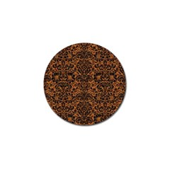 DAMASK2 BLACK MARBLE & RUSTED METAL Golf Ball Marker
