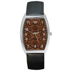 DAMASK2 BLACK MARBLE & RUSTED METAL Barrel Style Metal Watch