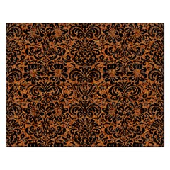 DAMASK2 BLACK MARBLE & RUSTED METAL Rectangular Jigsaw Puzzl