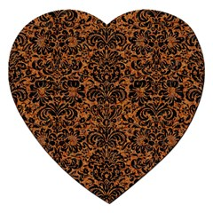 DAMASK2 BLACK MARBLE & RUSTED METAL Jigsaw Puzzle (Heart)