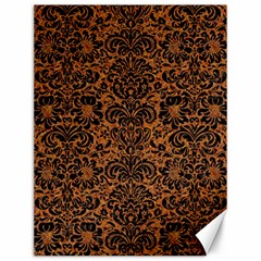 Damask2 Black Marble & Rusted Metal Canvas 12  X 16   by trendistuff