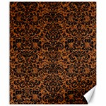 DAMASK2 BLACK MARBLE & RUSTED METAL Canvas 20  x 24   24 x20 Canvas - 1