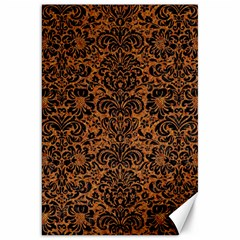 Damask2 Black Marble & Rusted Metal Canvas 20  X 30   by trendistuff
