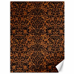 Damask2 Black Marble & Rusted Metal Canvas 36  X 48   by trendistuff