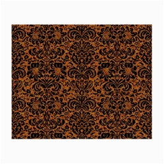 DAMASK2 BLACK MARBLE & RUSTED METAL Small Glasses Cloth (2-Side)