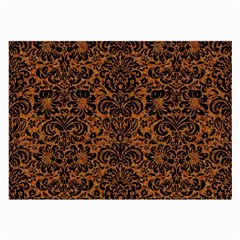 DAMASK2 BLACK MARBLE & RUSTED METAL Large Glasses Cloth (2-Side)
