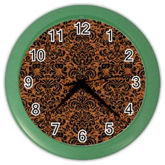 DAMASK2 BLACK MARBLE & RUSTED METAL Color Wall Clocks