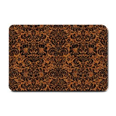 DAMASK2 BLACK MARBLE & RUSTED METAL Small Doormat
