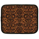 DAMASK2 BLACK MARBLE & RUSTED METAL Netbook Case (Large) Front