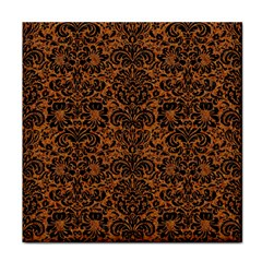 DAMASK2 BLACK MARBLE & RUSTED METAL Face Towel