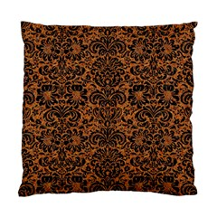 DAMASK2 BLACK MARBLE & RUSTED METAL Standard Cushion Case (Two Sides)