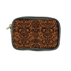 Damask2 Black Marble & Rusted Metal Coin Purse by trendistuff