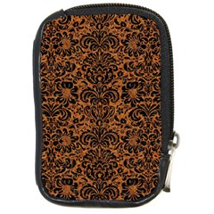 Damask2 Black Marble & Rusted Metal Compact Camera Cases by trendistuff