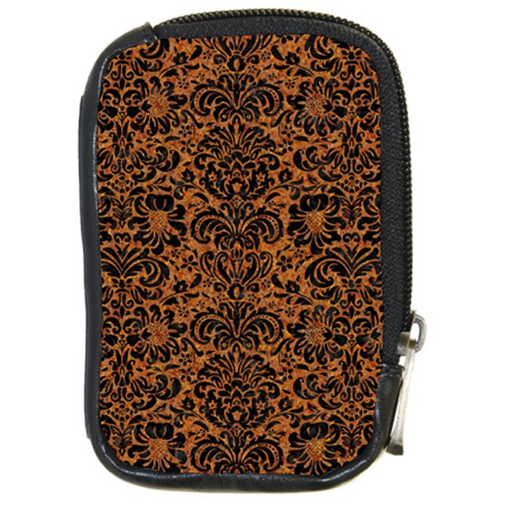 DAMASK2 BLACK MARBLE & RUSTED METAL Compact Camera Cases