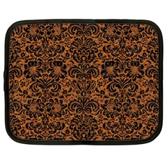 DAMASK2 BLACK MARBLE & RUSTED METAL Netbook Case (XL)