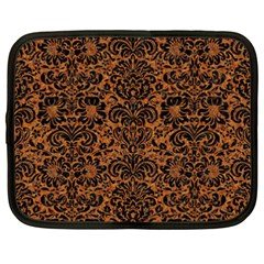 DAMASK2 BLACK MARBLE & RUSTED METAL Netbook Case (XXL)