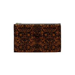 DAMASK2 BLACK MARBLE & RUSTED METAL Cosmetic Bag (Small)