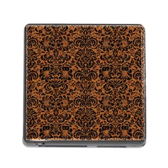 DAMASK2 BLACK MARBLE & RUSTED METAL Memory Card Reader (Square)
