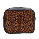 DAMASK2 BLACK MARBLE & RUSTED METAL Mini Toiletries Bag 2-Side Back