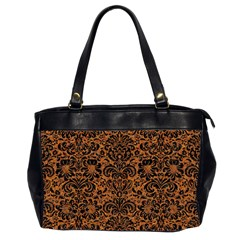 DAMASK2 BLACK MARBLE & RUSTED METAL Office Handbags (2 Sides)