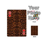 DAMASK2 BLACK MARBLE & RUSTED METAL Playing Cards 54 (Mini)  Front - Heart10