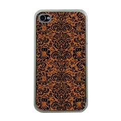 DAMASK2 BLACK MARBLE & RUSTED METAL Apple iPhone 4 Case (Clear)
