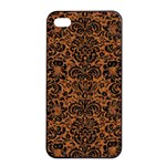 DAMASK2 BLACK MARBLE & RUSTED METAL Apple iPhone 4/4s Seamless Case (Black) Front