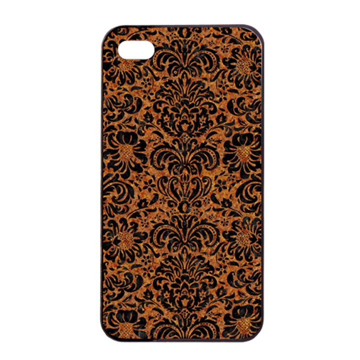 DAMASK2 BLACK MARBLE & RUSTED METAL Apple iPhone 4/4s Seamless Case (Black)