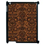 DAMASK2 BLACK MARBLE & RUSTED METAL Apple iPad 2 Case (Black) Front
