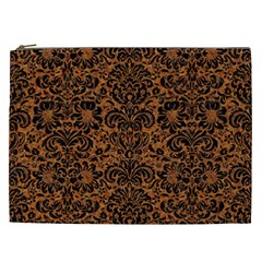 DAMASK2 BLACK MARBLE & RUSTED METAL Cosmetic Bag (XXL)